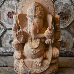 Sandstone Carving of Lord Ganesha, Remover of Obstacles, Orissa